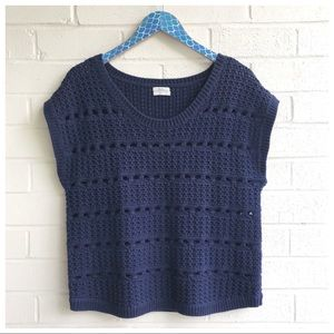 Madewell Wallace Punchcard Short Sleeve Sweater